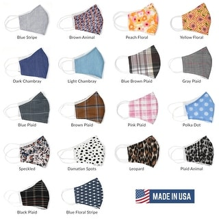 Link to Unisex Washable Fabric Cloth Face Mask Metal Nose Filter Pocket Made in USA Similar Items in Scarves & Wraps