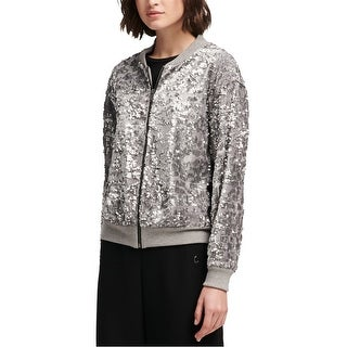 Link to Dkny Womens Sequined Bomber Jacket Similar Items in Women's Outerwear