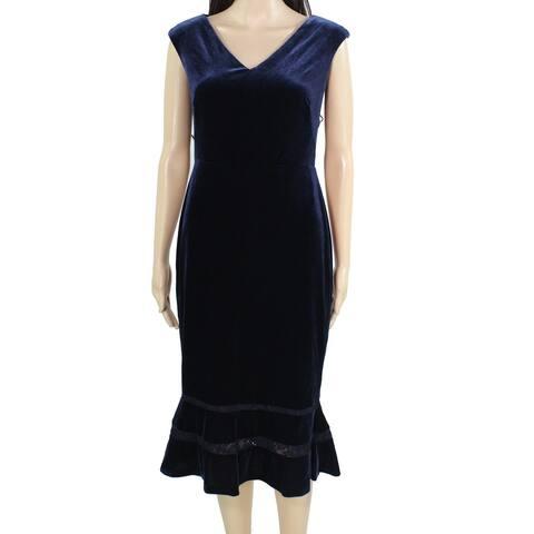 Lauren by Ralph Lauren Women's Dress Sheath V-Neck