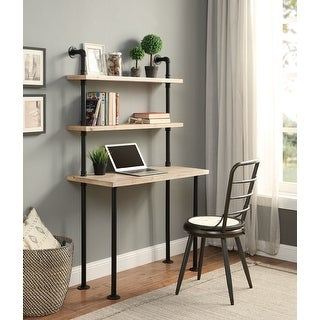Link to Carbon Loft Kenzari Wall Bookcase and Desk Similar Items in Computer Desks