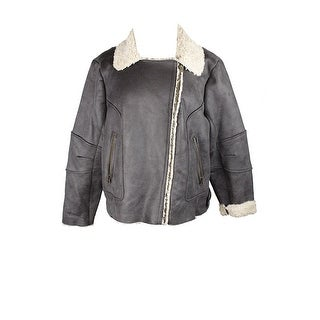 Lucky Brand Brown Faux-Shearling Bomber Jacket  XXL