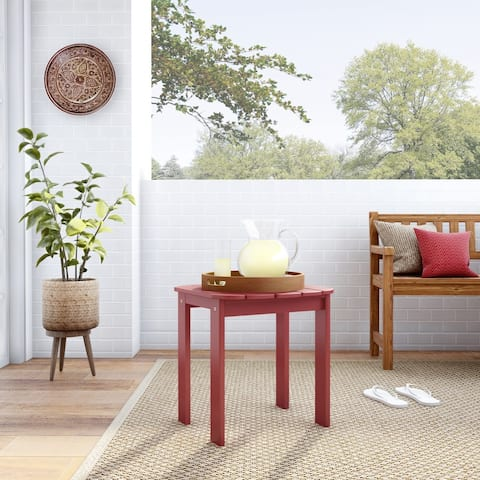 Gavil Red Adirondack End Table