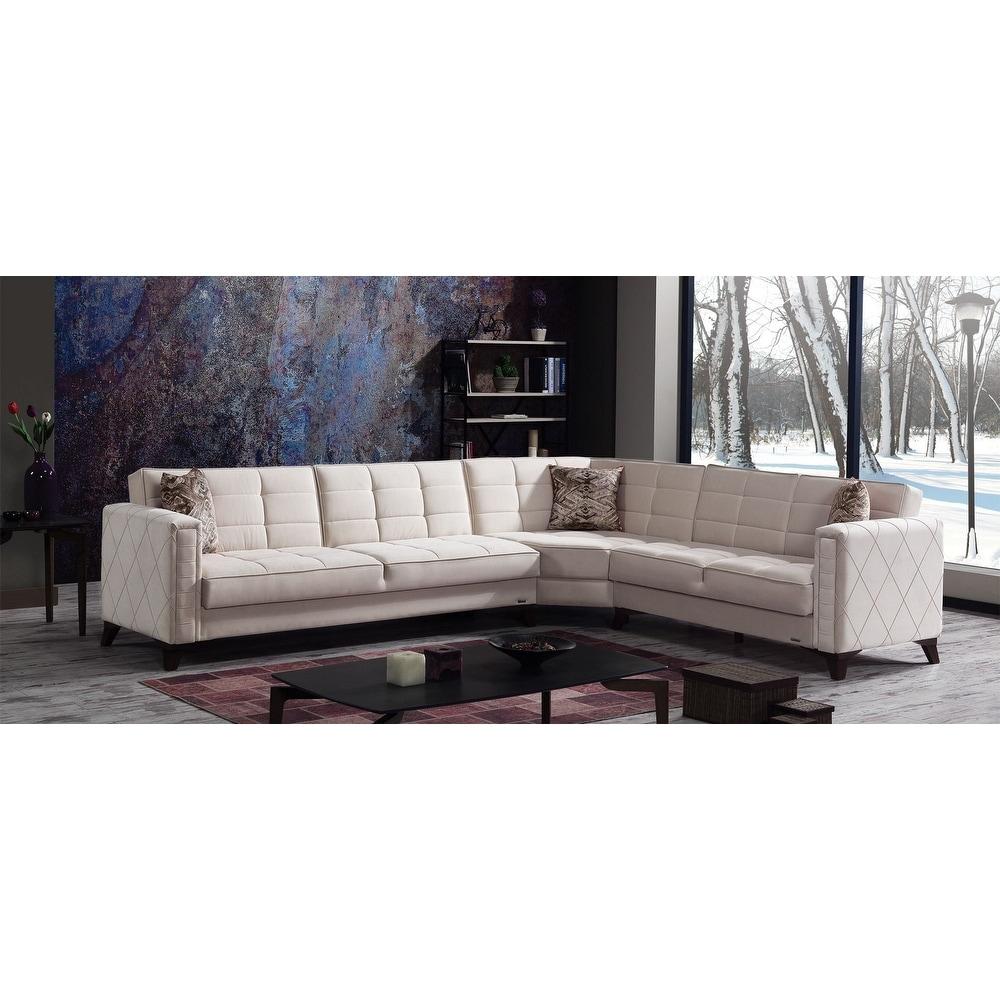 Aikon Living Room Modern Sectional Convertible Sleeper Sofa Overstock 31696983