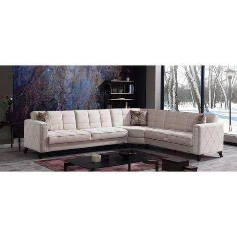 Aikon Living Room Modern Sectional Convertible Sleeper Sofa