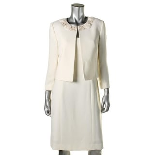 Tahari ASL Womens Corey Rosette 2PC Dress With Jacket