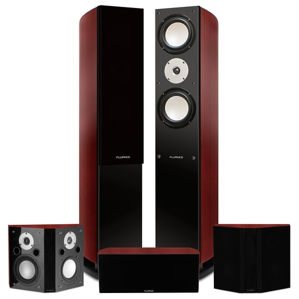 Fluance Reference Series Surround Sound Home Theater 5.0 Channel System with Bipolar Speakers - Mahogany (XL50MB)