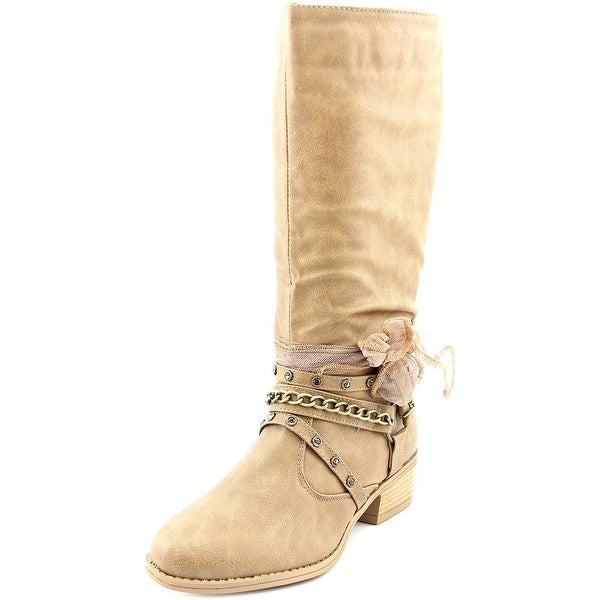 Sarah Jayne Meg   Round Toe Synthetic  Mid Calf Boot