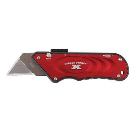 Olympia Tools 33-132 Retractable Utility Turboknife X, Red