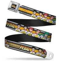 Crunchyroll Yowamushi Pedal Logo Full Color Black White Orange Yellow Fade Seatbelt Belt