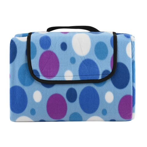 Shop LC Multi Color Polka Dot Pattern Fleece Picnic Blanket Gifts - 59x78.9 inches