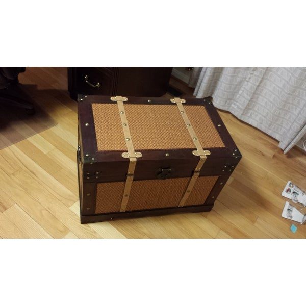 cambridge large wood trunk and wooden treasure chest free shipping today