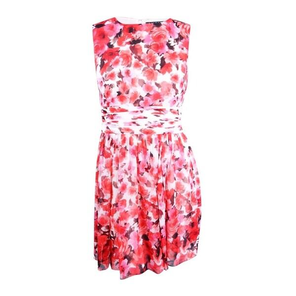 3fe42262b71cf Lauren Ralph Lauren Women's Floral-Print Dress - Cream/Claret/Multi