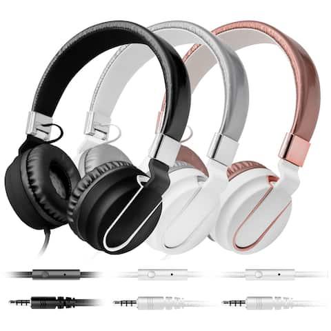 Art & Sound Chroma On-Ear Headphones with Built-In Mic, Portable Audio Headset with Adjustable Headband