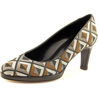 Vaneli Faunal Round Toe Canvas Heels