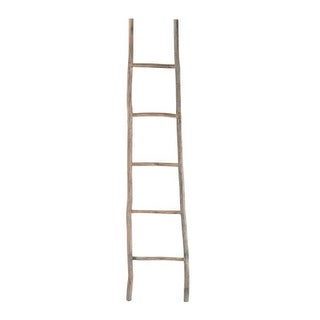 Dimond Home 594039 70 Inch Tall White Washed Wood Ladder