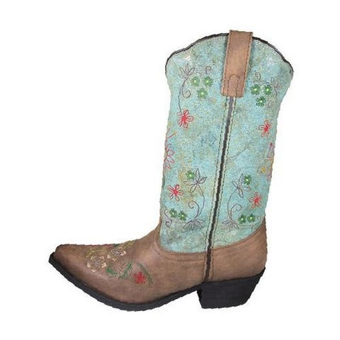Smoky Mountain Western Boots Womens Autumn Leather Flower Brown