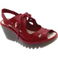 Fly Loundon Womens yend827 Peep Toe Casual Platform Sandals - 7.5