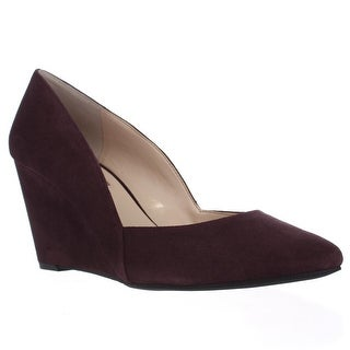 I35 Zarie Pointed Toe Wedges, Dark Plum