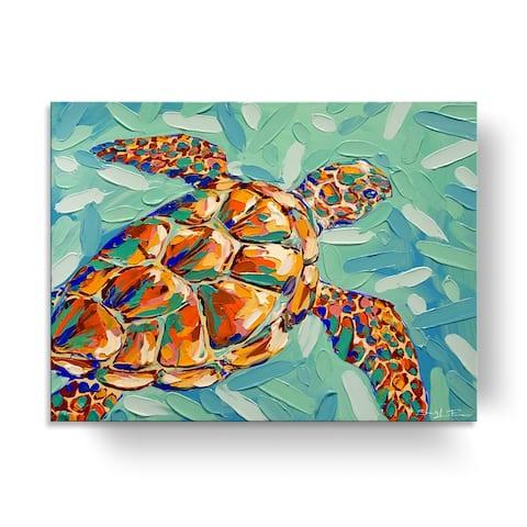 Porch & Den Carnival Tortuga' Coastal Wildlife Canvas Wall Art