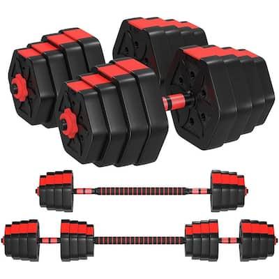 ZENOVA Adjustable Dumbbells 33/44/66/88 LBS, Adjustable Weight Sets with Connecting Rod
