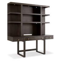 Hooker Furniture 1600-10464-DKW Curata 72 Inch Wide Rubberwood Three Drawer Wall - midnight brown - n/a