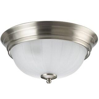 Sea Gull Lighting 79504BLE-962 Floyd Flush Mount Ceiling Light, Brushed Nickel - Brushed Nickel