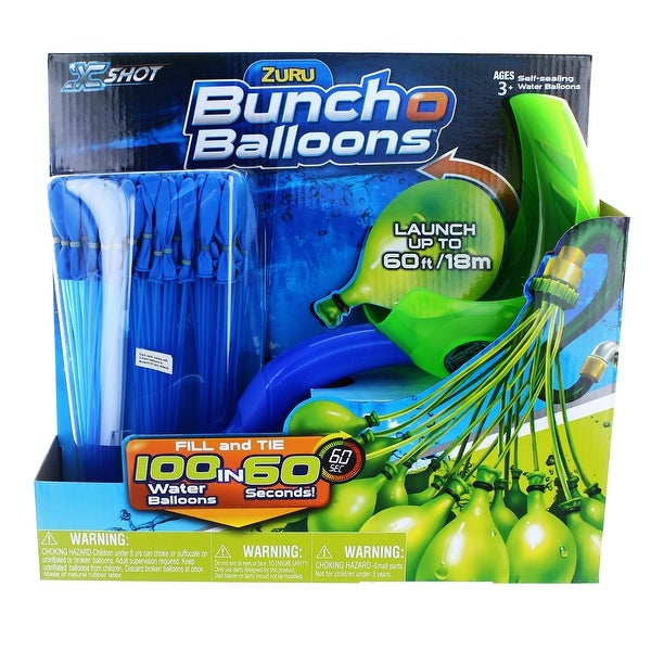 Bunch O Balloons With Launcher: Blue 3-Pack, 100 Balloons Total
