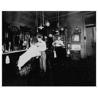 """""""Vintage barber shop"""" Poster Print"""