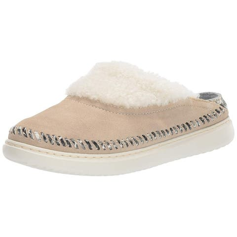 Cole Haan Womens 2.ZeroGrand Fur Closed Toe Slip On Slippers