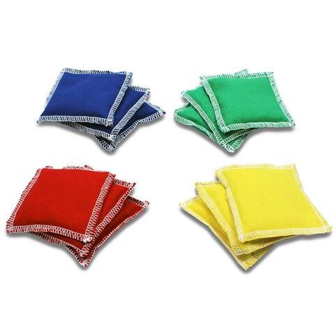 (2 Dz) Bean Bags 4 X 4 12 Per Pk Nylon Cover Plastic Bead Filling