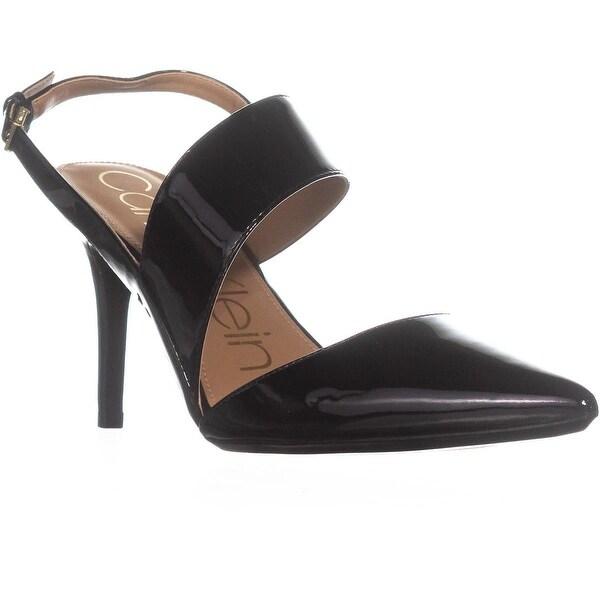 Calvin Klein Gianna Slingback Heeled Sandals, Black - 8.5 us / 38.5 eu