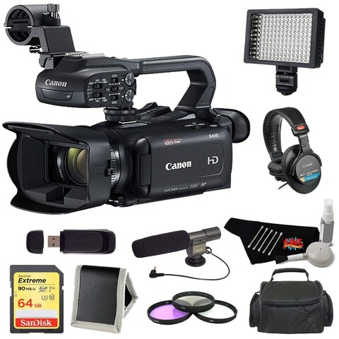 Canon XA11 Compact High Definition Camcorder + 5 Piece Lens Cleaning Kit Bundle