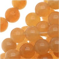 Red Orange Aventurine 6mm Round Beads / 15.5 Inch Strand