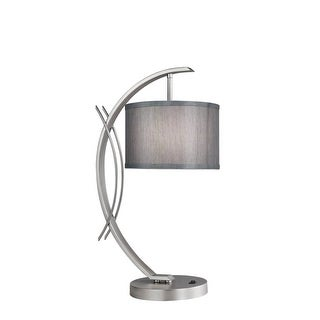 Woodbridge Lighting 13481STN-S10802 1 Light Table Lamp from the Eclipse Collection - Grey - n/a