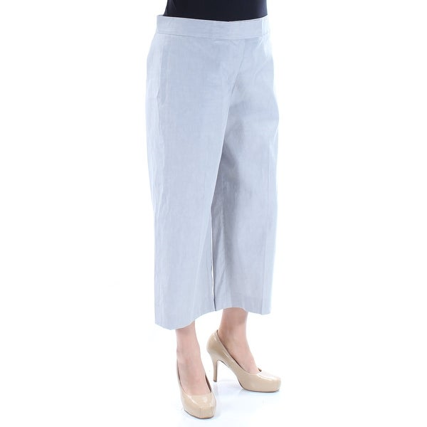 68593561ff Shop DKNY Womens Gray Cropped Wide Leg Pants Size: 12 - On Sale - Free  Shipping On Orders Over $45 - Overstock - 21313022