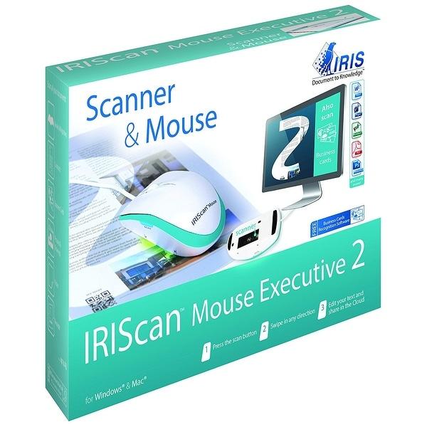Iris 458075 Iriscan Executive 2 1200 Dpi Portable Scanning Mouse W/Usb 2.0 White