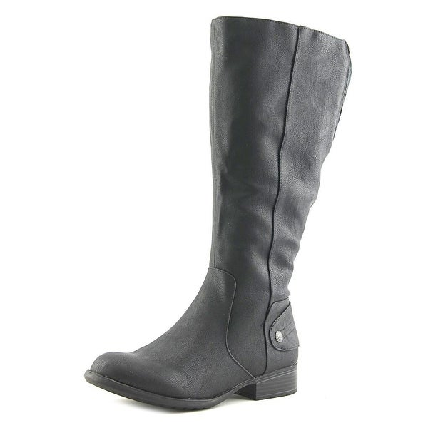 Life Stride Xandy Wide Calf Women Black Washsurf Boots