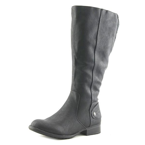 Life Stride Xandy Wide Calf Women Black Washsurf Boots