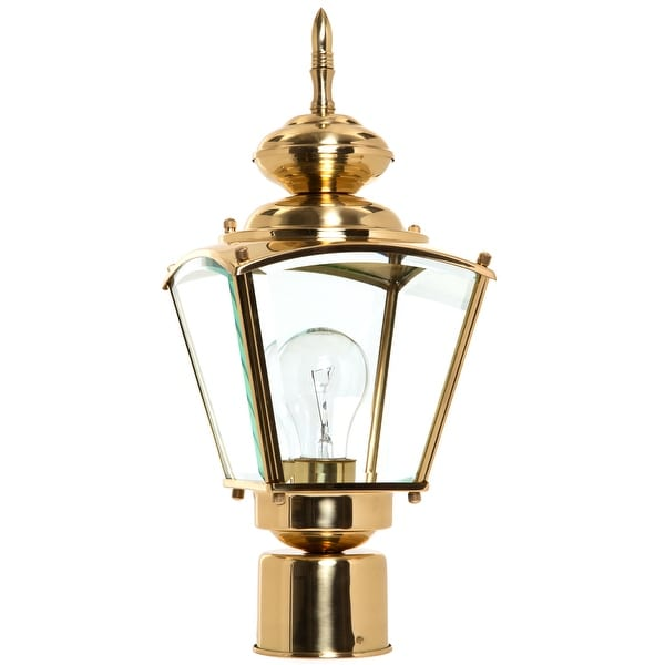 Boston Harbor 4007H2 Coach Post Top Lantern, Polished Brass