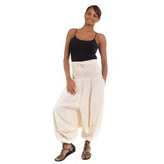 100% Cotton Wide Waist Boho Harem Yoga Baggy Pants