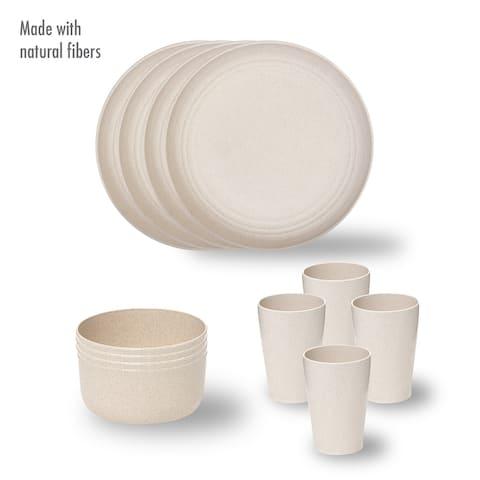 Stephan Roberts Wheatstraw / Eco-Friendly Dinnerware 12pc Set