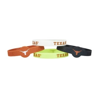 Texas Longhorns NCAA Silicone Rubber Wrist Band Bracelet Pack Of 4