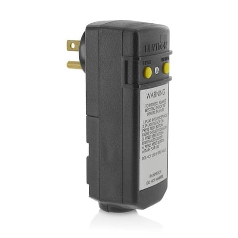 Leviton 3809522 5-15P Residential Commercial & Light Industrial Thermoplastic Gfci Straight Blade Plug Yellow & Black