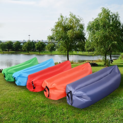 Costway Outdoor Lazy Inflatable Couch Air Sleeping Sofa Lounger Bag