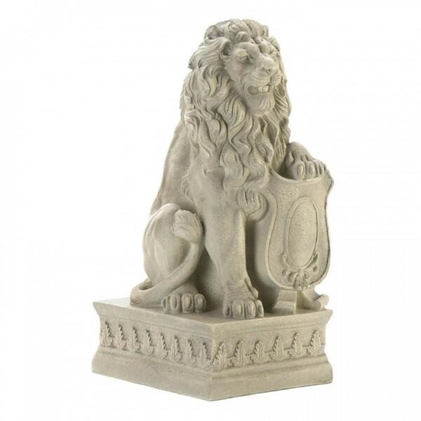 Set of 2 Guarding Lion Garden Statues