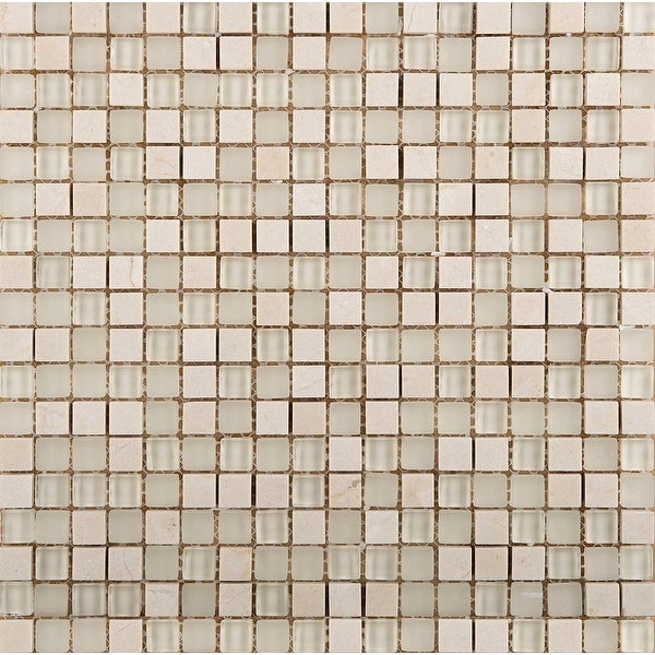 Emser Tile W80LUCE1212MSH Lucente - Square Mosaic Floor and Wall Tile - Polished Glass Visual