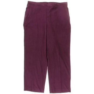 Alfred Dunner Womens Smocked Pull-On Straight Leg Pants