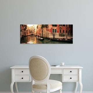 Easy Art Prints Panoramic Images's 'Tourists in a gondola, Venice, Italy' Premium Canvas Art