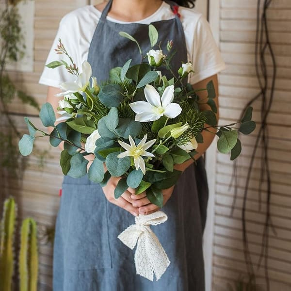 Rusticreach Artificial Flower Bouquet Clematis Flower In Greenery 20 Tall Green On Sale Overstock 24072257