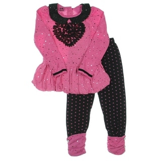 Young Hearts Girls Cuffed Peter Pan Pant Outfit - 5